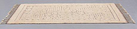 "Ebba swedenborg, matto, ""björnar"", knotted pile in relief, ca 219 x 115 cm, designed by ebba swedenborg, södra kalmar läns hemslöjd."