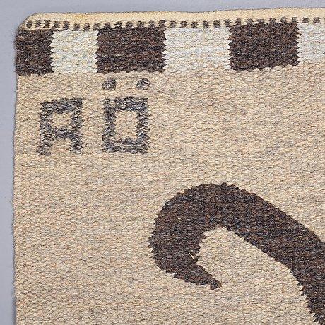 Agda Österberg, a runner, reduced, flat weave, ca 463 x 89,5 cm, a woven signature aÖ.