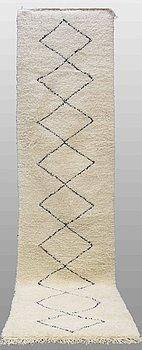 A carpet, Morocco, ca 405 x 100 cm.