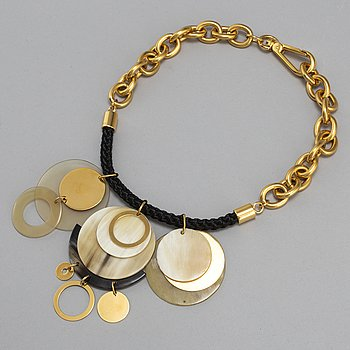 MARNI, a horn and metal necklace.