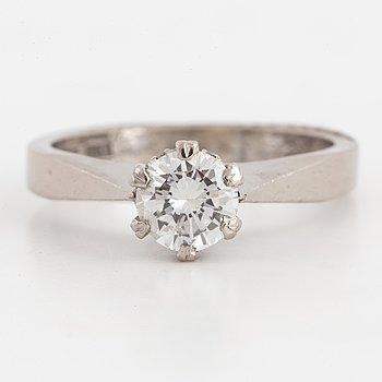 Brilliant-cut diamond solitaire ring 0,55 ct.