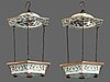 Two hanging flower pots, qing dynasty, 19th century.