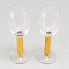 Eight 'nobel' wine glasses by gunnar cyrén