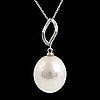HÄnge, med stor south sea pärla och diamanter, med kedja