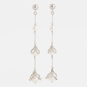 Small akoya pearl earrings.