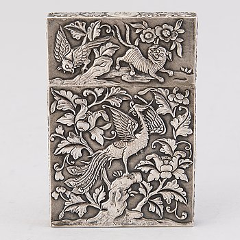CARDCASE, silver, Khecheong, Kiina, Kanton 1850-1870.