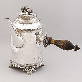 A COFFEE POT, silver. Carl Johan Westrell, Loviisa Finland 1784.