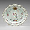 A famille rose armorial tureen stand, qing dynasty, qianlong (1736-95).