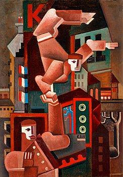 "481. Gösta Adrian-Nilsson, ""Akrobater i Paris"" (Acrobats in Paris)."