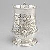A silver tankard by an unknown master, maker's mark hb, london, england, 1747