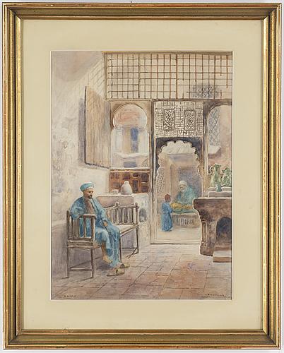 Frans wilhelm odelmark, akvarell, signerad f.w. odelmark