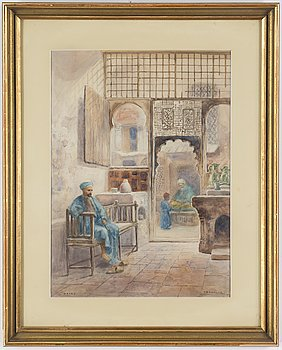 FRANS WILHELM ODELMARK, watercolour, signed.