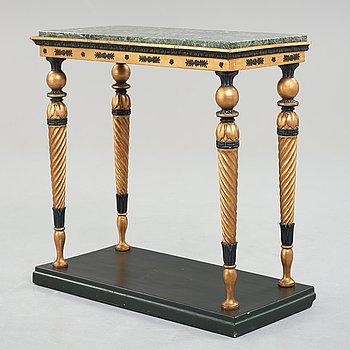 A late Gustavian console table, circa 1800.