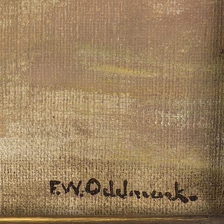 Frans wilhelm odelmark, olja på duk, signerad f.w. odelmark