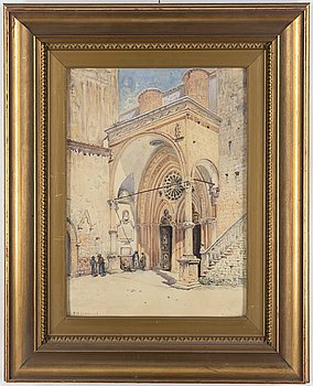FRANS WILHELM ODELMARK, watercolour, signed and dated München 1884.