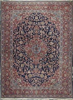 CARPET, Keshan, old, 369 x 274 cm.
