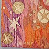 """Barbro nilsson, a tapestry, """"atomkraft - atomkraften"""", a tapestry variant, ca 246,5 x 108,5 cm, signed ab mmf bn."""