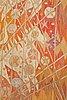 """Barbro nilsson, a tapestry, """"linjenät - elektriska linjenätet"""", a tapestry variant, ca 244,5 x 109,5 cm, signed ab mmf bn."""
