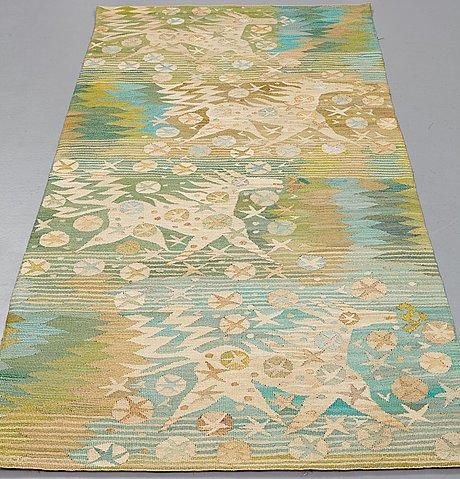 """Barbro nilsson, a tapestry, """"Åar - sakta rinnande vatten"""", tapestry variant, ca 243 x 108 cm, signed ab mmf bn."""