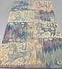 """Barbro nilsson, vÄvd tapet, """"forsar - forsande vatten"""", gobelängvariant, ca 247,5 x 110 cm, signerad ab mmf bn."""