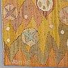"""Barbro nilsson, vÄvd tapet, """"solen"""", gobelängvariant, ca 242 x 110 cm, signerad ab mmf bn."""