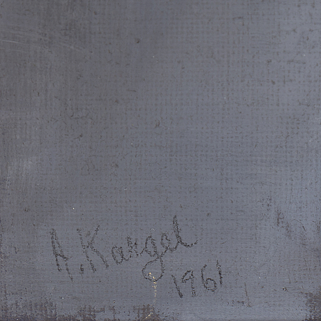 Axel kargel, oil on canvas on board, signed a. kargel and dated 1961