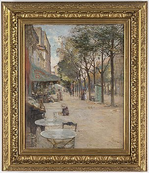 AXEL PETER, oil on canvas, signed and dated Paris 1893.