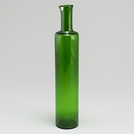 Nanny still, a glass bottle from riihimäen lasi oy, finland.