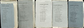 "JOHAN PALMSTRUCH,  ""Svensk Botanik"" 5 häften med 72 st koppargravyrer, ca 1823-1830."