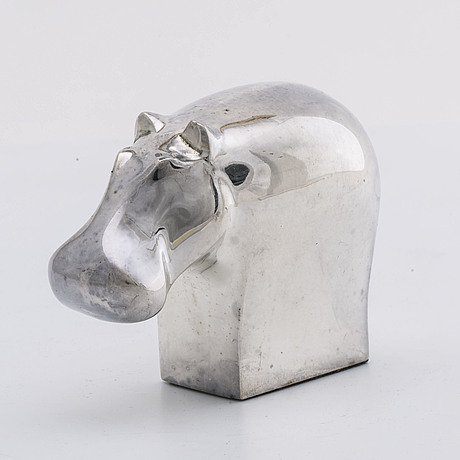 Gunnar cyrÉn, a silverplated figurine dansk design later part of the 20th century