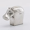 Gunnar cyrÉn, a silverplated figurine dansk desing japan later part of the 20th century