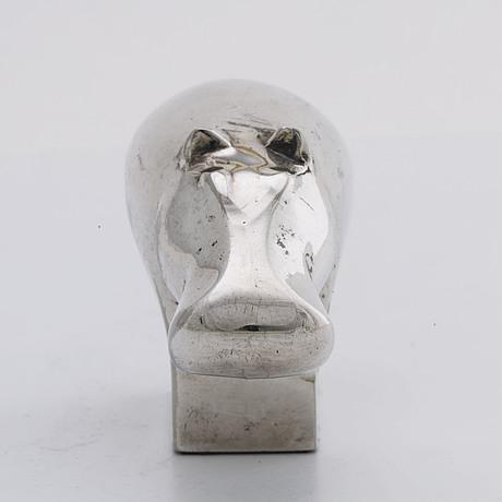 Gunnar cyrÉn, figurin silverpläterad metall dansk design japan 1900 talets senare del