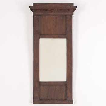 A first half of the 20th Century mahogany mirror.