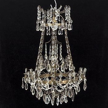 A first half of the 20th century Gustavian style chandelier.