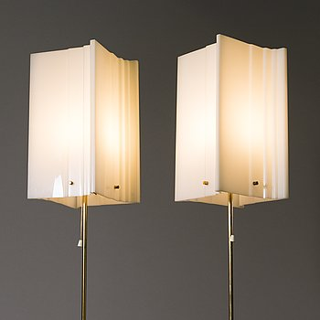YKI NUMMI, a pair of 1960s '30-008' floorlamps for Orno. Finland.