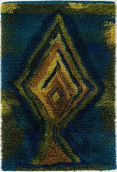 AIRI SNELLMAN-HÄNNINEN, a Finnish long pile rug. Circa 170x115 cm.