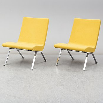 A contemporary pair of 'Roscoe' easy chairs by Steinar Hindenes from Materia.