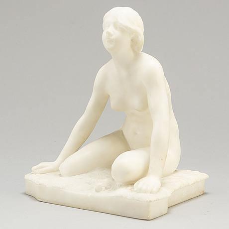 Per hasselberg, sculpture, alabaster, signed.