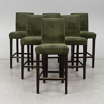 Six bar chairs from The One, 21st Century.