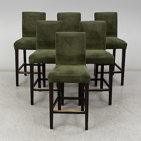 Six bar chairs from the one, 21st century