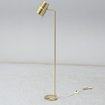 A brass floor lamp by Hans-Agne Jakobsson.