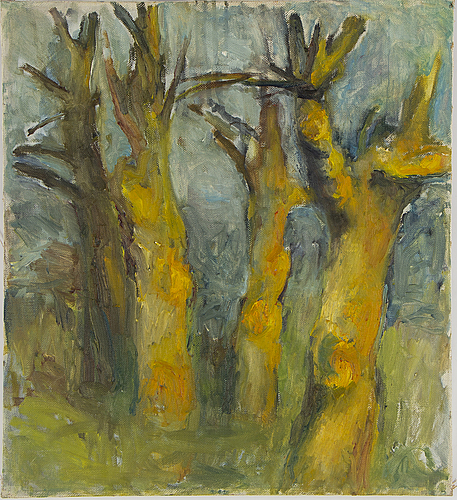 Hans wigert, oil on canvas, on verso signed and dated gräskö 1960.
