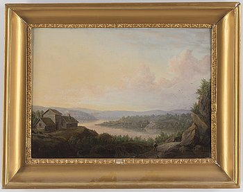 ADOLF JULIUS BERG, oil on canvas, signed and dated 1842.