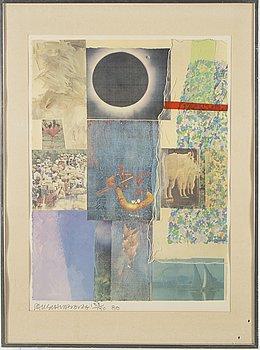 """ROBERT RAUSCHENBERG, """"Louisiana"""", färgoffset, signerad, daterad - 80 och numrerad 133/150."""