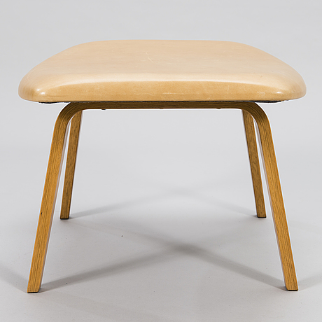 Eero saarinen, a 'grasshopper' armchar and ottoman manufactured under licens by tetrimäki finland