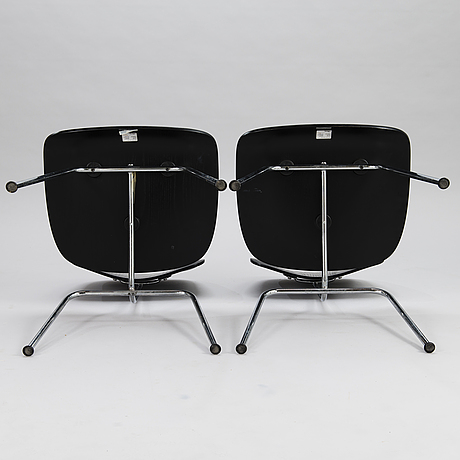 Charles & ray eames, a pair of 2005' dcm' chairs for plywood group, vitra
