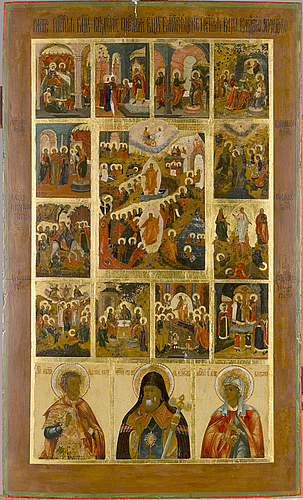 Icon, a russian icon from latter half of 19th century.
