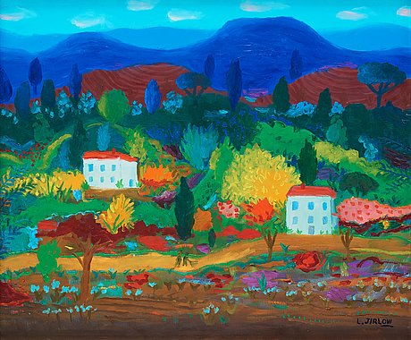 Lennart jirlow, landscape from provence.