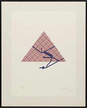 JOAN BROSSA, serigrafi, signerad och numrerad P.A. V/X, daterad 1989.