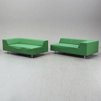 """JEAN-MARIE MASSAUD, soffor, ett par, """"easy block"""", Offecct, 2007."""